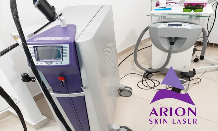Laser Alexandrite Arion II 5ης γενιάς για οριστική αποτρίχωση σε περιοχή της επιλογής σας, για άντρες και γυναίκες, κατάλληλο για κάθε τύπο επιδερμίδας από το  Beauty Time στον Πειραιά (από 25€).